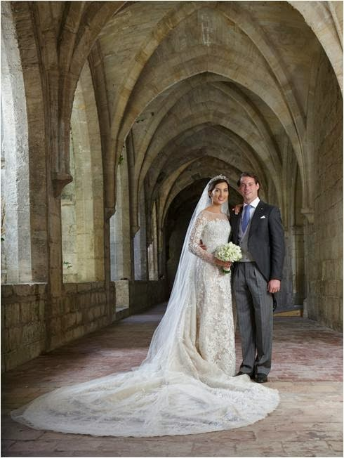 Like The Hereditary Grand Duchess Before Her Claire Decided To Marry In A Custom Gown From Elie Saab Off White Dress Is Confection Of Floral